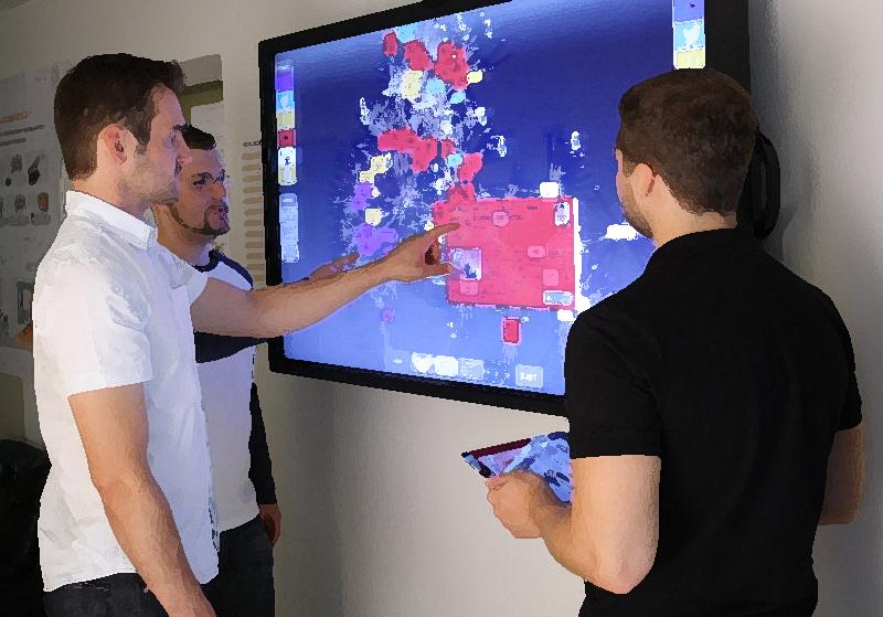 Interaktion zwischen mobilen Endgeräten und MeetingMirror